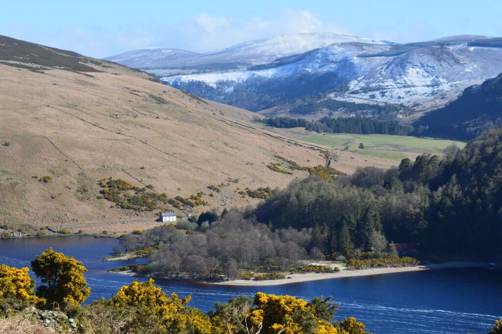 lough dan wicklow in ierland